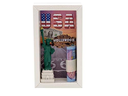 ZauberDeko Geldgeschenk Verpackung Klein Reise USA England Italien Geschenk Geburtstag, Modell:Amerika1