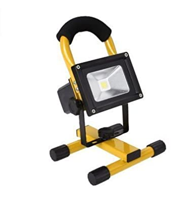 econoLED 15W 24LED Waterproof Spotlights Work Lights Outdoor Camping Lights, Built-in Rechargeable Lithium Batteries & USB Ports to charge Mobile Devices,Yellow US Seller New