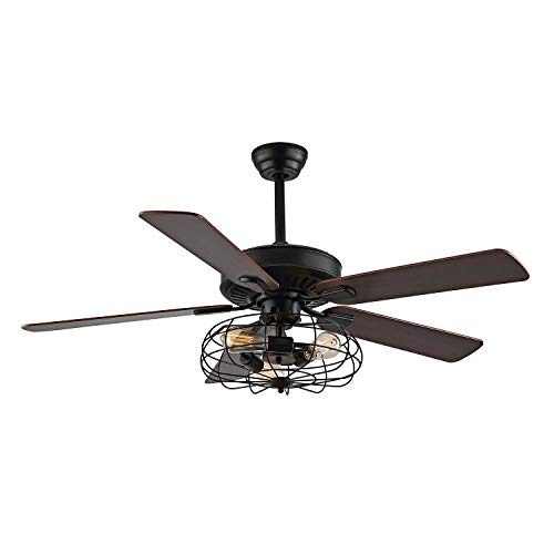 WINGBO 52Inch Retro Ceiling Fan with Light Kits and Remote...