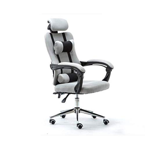 Lesbye mesh Computer Chair Lacework Office Chair Lying and Lifting Staff Armchair with footrest for Home & Office Use for Adults (Color : Gary)