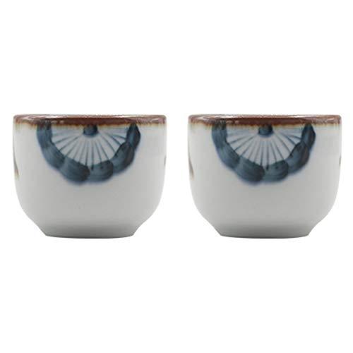 Cabilock 2 tazas para sake de cerámica, estilo japonés, para el hogar, la cocina o la oficina