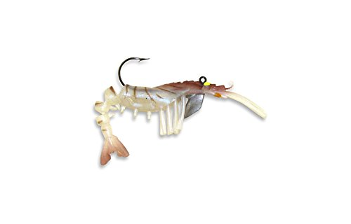 Egret Baits Vudu Shrimp, 2-Inch, Natural