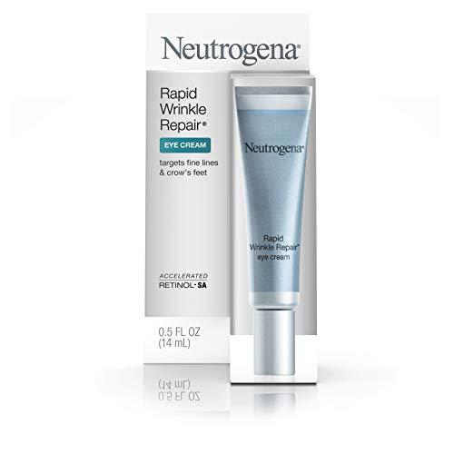 31ZiVhCBK9L - Neutrogena Rapid Wrinkle Repair Hyaluronic Acid Retinol Under Eye Cream - Anti Wrinkle Eye Cream for Dark Circles & Puffiness & Under Eye Bags - Hyaluronic Acid, Glycerin & Retinol Cream, 0.5 fl. oz