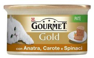 Purina Gourmet Gold Umido Gatto Patè con Verdure, con Anatra, Carote e Spinaci, 24 Lattine da 85 g Ciascuna, Confezione da 24 x 85 g