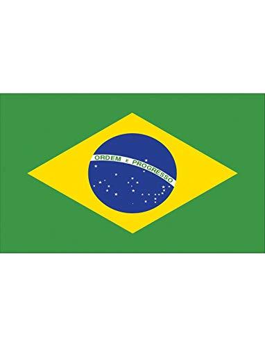 "TrendClub100® Fahne Flagge ""Brasilien Brazil BR"" - 150x90 cm / 90x150cm"