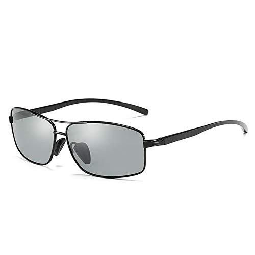 UKKD Gafas de sol Gafas De Sol Fotocrómicas Para Hombres Mujeres Polarizadas Vidrios De Camaleón De Conducción Goggles Anti-Glass Gafas De Sol-Black Frame