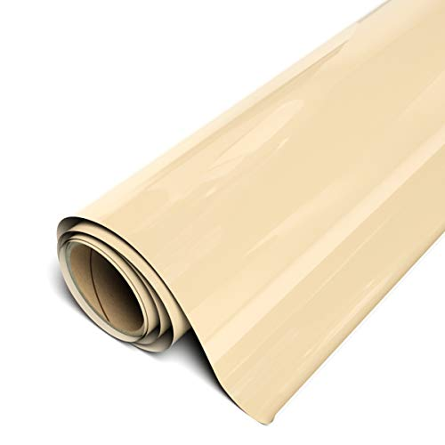 "Siser EasyWeed HTV 11.8"" x 6ft Roll - Iron on Heat Transfer Vinyl (Cream)"