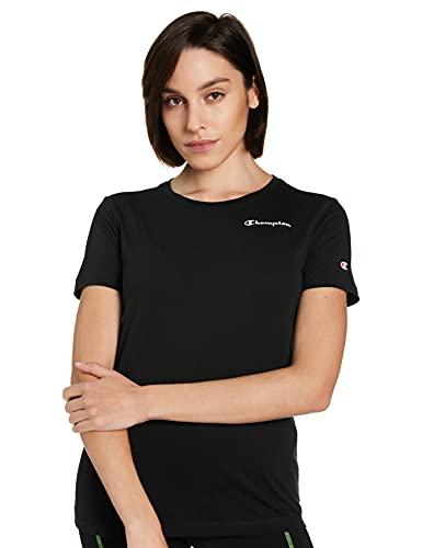 Champion Legacy Classic Small Logo T-Shirt, Nero, S Donna