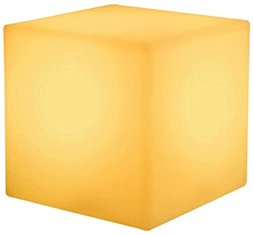 Paddia Colorido LED Luminoso Taburete Cuadrado Recargable Noche romántica Luz de Humor Lámpara de Patio Exterior Control Remoto Cubo LED Muebles de Interior 16 Colores RGB, Decoración de Fiesta en el