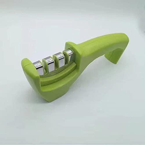 BAWAQAF Afilador de cuchillos, afilador de cuchillos profesional de 3 etapas de acero inoxidable, herramienta de diamante de tungsteno para afilar cocina