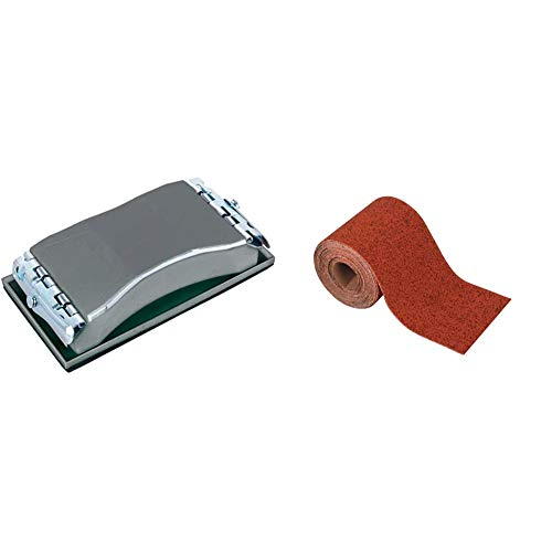 Wolfcraft 2891000 2891000-1 Bloque de lijar Manual & 3176000 - Rollo papel de lija abrasivo, grano 240, 5 m x 93