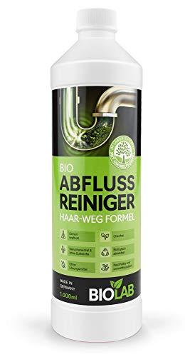 BIOLAB Abflussreiniger, Rohrreiniger, Haar-weg Abfluss-Frei für Duschabfluss, chlorfrei, geruchsneutral (1000 ml)