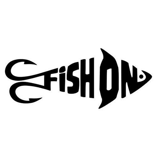 JPDP 13,4 cm * 9,4 cm Bass Life Fashion Fish Car Styling Vinilo Etiqueta engomada del Coche S4-0676 Negro