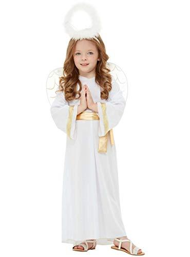 Funidelia   Disfraz de ángel para niño y niña Talla 10-12 años ▶ Navidad, Belén de Navidad - Color: Blanco - Divertidos Disfraces y complementos para Carnaval y Halloween