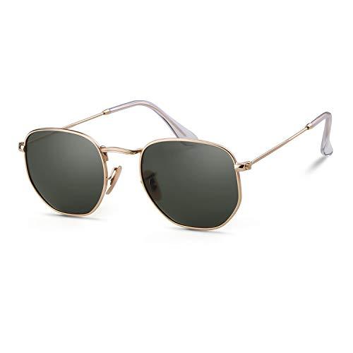 GIFIORE Gafas de sol hexagonales polarizadas gafas de sol para mujeres hombres gafas de protección UV