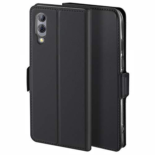 HoneyCase für Handyhülle Xiaomi Black Shark 2 Hülle Premium Leder Flip Schutzhülle für Xiaomi Black Shark 2 Tasche, Schwarz