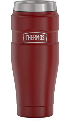 THERMOS Stainless King SK1005 Vacuum-Insulated Travel Tumbler 16 Ounce Matte Red
