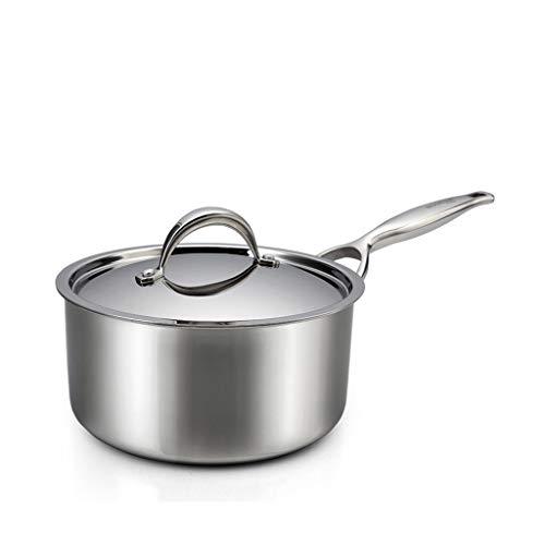 Pot de lait Mini ménage Petit Pot Supplément de nourriture pour bébé Pot Pot de lait chaud n'est pas facile à coller Grade 304 en acier inoxydable