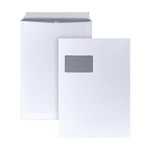 POSTHORN Versandtasche C4 (324x229mm) haftklebend mit Fenster weiß 120g 250 Stück