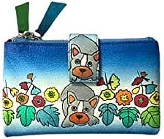 Dog's Day in Garden Print Wallet for Women