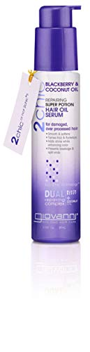 GIOVANNI Repairing Super Potion Hair Serum Blackberry & Coconut Restoring Treatment