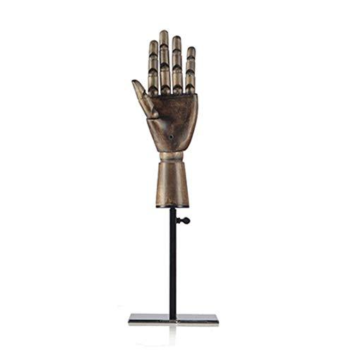 TYPING Madera Articulada Maniquí de Mano Soporte Juntas movibles Joyería Exhibición de Estante de Reloj Modelo de Mano protésica Escaparate de la Tienda,3