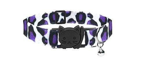Duke & Co Collier pour Chat imprimé léopard Violet