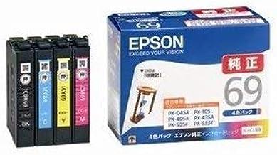 エプソン 純正インク IC4CL69 インクカートリッジ 4色パック 砂時計