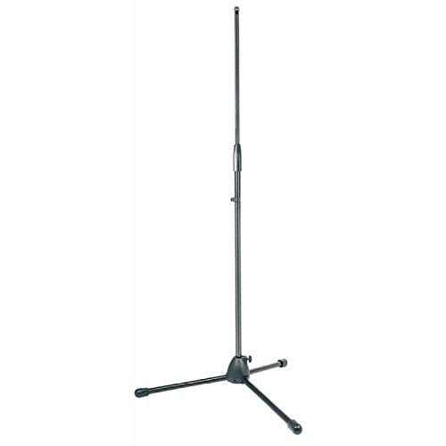 Asta per microfono PROFESSIONALE dritto Proel pro110bk, con base di Treppiede in alluminio e manicotto di regolazione in nylon