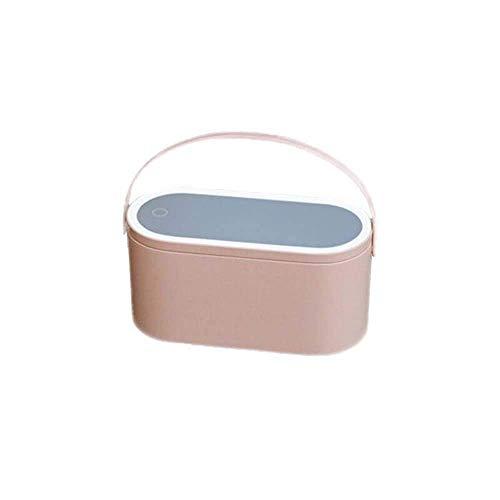 FEE-ZC Réglable Professionnel Maquillage Miroir LED Écran Tactile Éclairage Maquillage Miroir Boîte Multifonctionnel Portable Sac De Rangement Voyage Maquillage Sac Beauté Boîte Outil