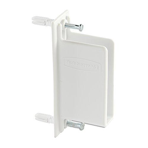 Rubbermaid Direct Mount Non-Adjustable Free Slide Wall Bracket, White (FG3D68LWWHT)
