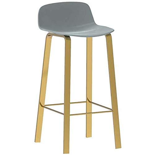 WDZJM Taburetes Altos Minimalistas Modernos, sillas traseras de Hierro Forjado a Domicilio, taburetes de Bar con reposapiés, sillas de recepción (Color : C, Size : 65CM)