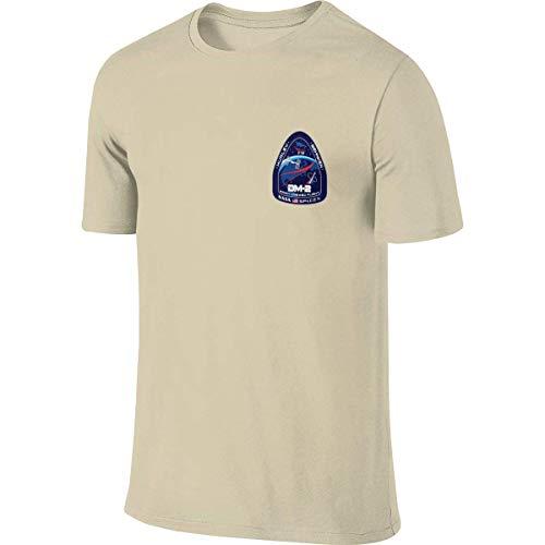 engzhoushi Herren NASA Spacex Dm-2 Doppelseitiger Druck Rundhals-Kurzarm-T-Shirt