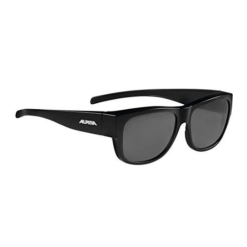 ALPINA A8574531 Sonnenbrille Overview II P, Glas polarisiert schwarz versp, schwarz (1 Stück)
