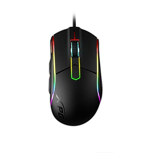 XPG Primer Wired RGB Gaming Mouse 12000 DPI Mechanical Switches Rubber Side Grips (Primer-BKCWW)