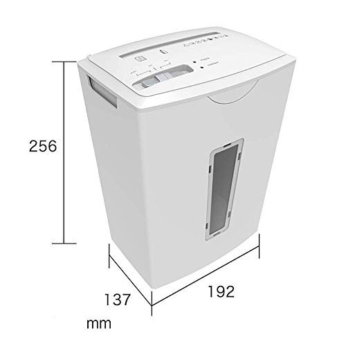 Shredder Mini Desktop Electric Shredder Office Confidential Portable Shredder Small A4 File Home Personal Shredder (Color : White, Size : 19.2x13.7x25.6cm)