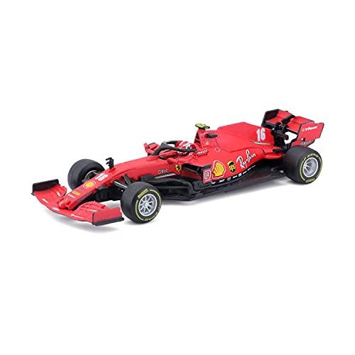 Bburago- Ferrari 1:43 F1 2020 con Casco Leclerc (May Cheong B18-36819L)