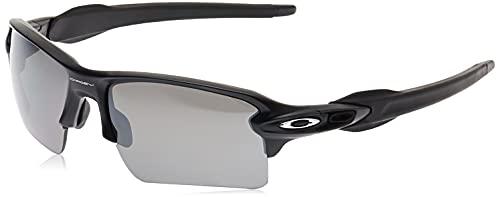 Oakley Men's OO9188 Flak 2.0 XL Rectangular Sunglasses, Matte Black/Prizm Black Polarized, 59 mm