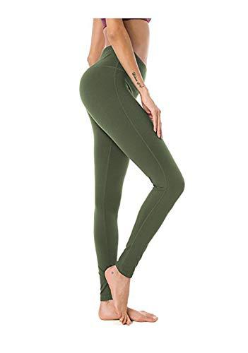 KKMAOAO Damen Yoga-Hose, modische Milk-Seide, eng anliegend, hohe Taille, Fitness-Hose, Grün, Sport-Hose, Sommer, Outdoor, Wild S farbe