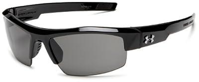 Under Armour Igniter Sunglasses Sport, Shiny Black/Gray Lens, 60 mm