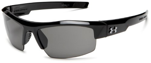 Under Armour Igniter Sunglasses Sport, Shiny Black/Gray Lens, 60 mm