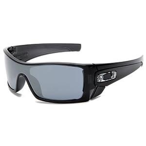 902c4a4039cfb Amazon.com  Oakley Men s Batwolf Polarized Sunglasses (Matte Black  Frame Fire Iridium Lens)  Clothing