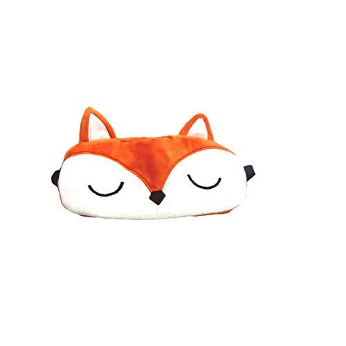 dressfan Nette Flauschige Tierfuchsaugenmaske 3D für das Schlafenreisen Breathable Eyeshade Karikaturschlafmaske mit den Fox-Ohren scherzt