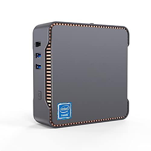 Mini PC, 8GB DDR4 + 128GB SSD Intel Celeron J4125 Procesador (hasta 2.7GHz) Windows 10 Mini Ordenador de Sobremesa, WiFi de Banda Dual 2.4G/5G, 2*HDMI+1*VGA Puertos, BT4.2, 4K HD Mini Computadora