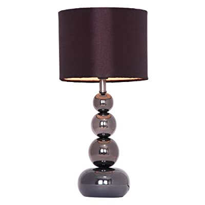 Stacked Balls Touch Table Lamp With Faux Silk Shade (1 X Max 40w Ses Golf Ball Bulb)