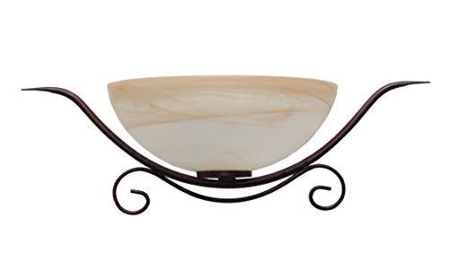 VALFB34150 PL1 NR CANTINA Made in Italy Plafoniera Lampada a Parete Applique in ferro battuto nero-ruggine da interni Prodotto da Valastro lighting