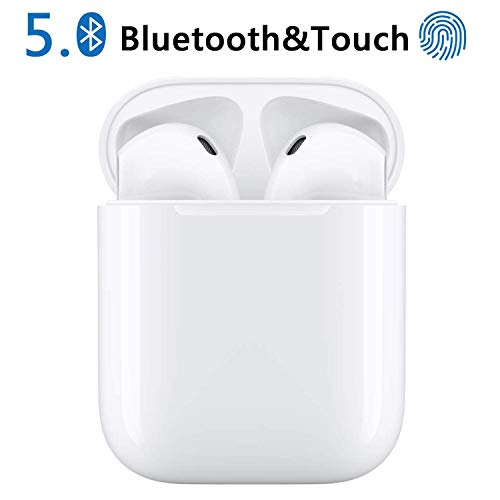 Auricolari Bluetooth, Hi (Hurricane) Cuffie Bluetooth 5.0 Auricolari Wireless Stereo Senza Fili Sportivi in Ear con Custodia da Ricarica,TWS Mini Cuffie per Samsung iPhone Huawei Sony Xiaomi