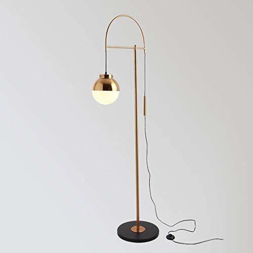 Lampadaires- distinctif Lampe de pêche créative postmoderne Durable Lampe LED Lampe de Table Verticale Design Nordique en cuivre