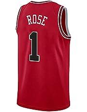 SHPP Jersey No. 1 Derek Rose, Bulls # 1, Camiseta sin Mangas de Jersey de Baloncesto, Uniformes de Baloncesto para Adultos y niños. (Edición de coleccionista)