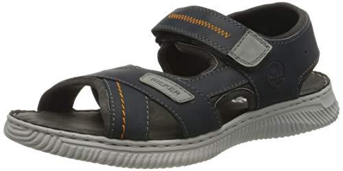 Rieker Herren Frühjahr/Sommer 28153 Geschlossene Sandalen, Blau (Navy/Grigio/Rauch 14), 43 EU